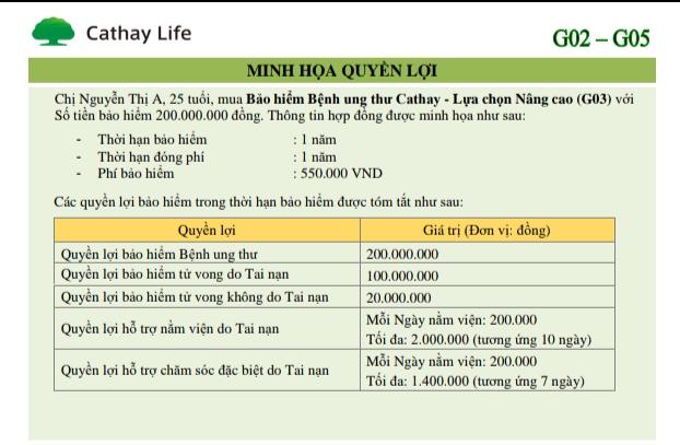 Bảo hiểm bệnh ung thư Cathay Life